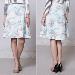 Anthropologie Songbird Circle Skirt
